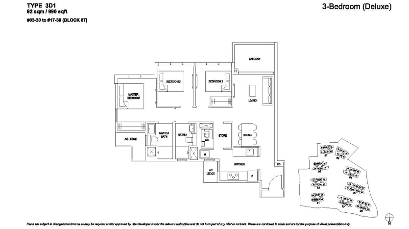 The Florence Residences Floor plan