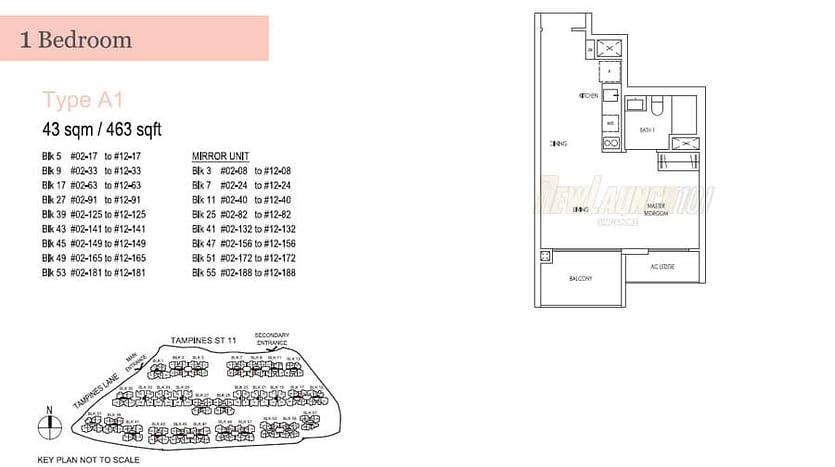 1 Bedroom - Type A1