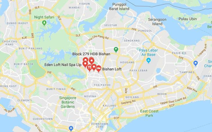 Bishan Loft map