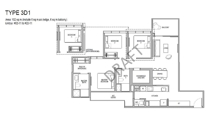 Kopar Floor Plans - Type 3D1